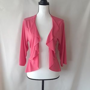 NAIF Bright Pink/Coral Cover Up Cascading Top